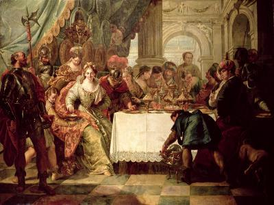 The Banquet of Cleopatra-Francesco Fontebasso-Giclee Print