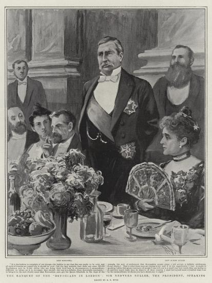 The Banquet of the Devonians in London, Sir Redvers Buller, the President, Speaking-Alexander Stuart Boyd-Giclee Print