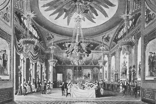 'The Banqueting Room', c1827, (1939)-Unknown-Giclee Print