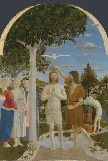 The Baptism of Christ, 1450S-Piero della Francesca-Giclee Print