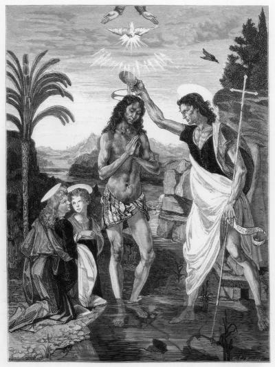 The Baptism of Christ, 1472-1475-Andrea del Verrocchio-Giclee Print