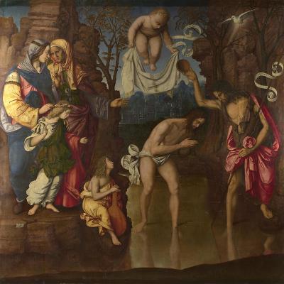 The Baptism of Christ, 1514-Francesco Zaganelli-Giclee Print