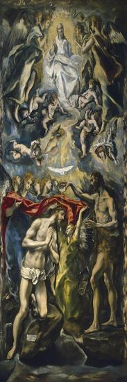 The Baptism of Christ, 1597-1600-El Greco-Giclee Print