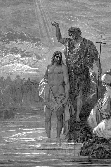 The Baptism of Christ, 1st Century-Gustave Dor?-Giclee Print