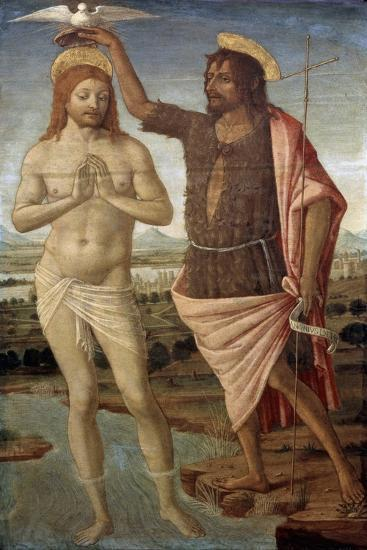 The Baptism of Christ, after 1486-Guidoccio Cozzarelli-Giclee Print
