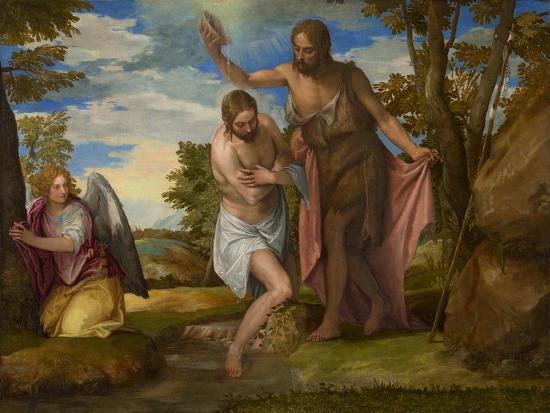 The Baptism of Christ, c.1550-1560-Veronese-Giclee Print