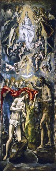The Baptism of Christ, c.1597-El Greco-Giclee Print
