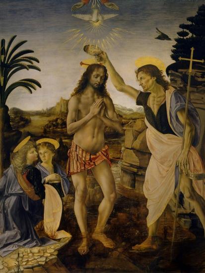 The Baptism of Christ, Ca 1470-1475-Leonardo da Vinci-Giclee Print
