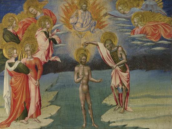 The Baptism of Christ (Predella Pane), 1454-Giovanni di Paolo-Giclee Print