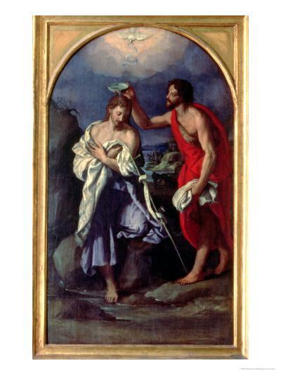 The Baptism of Christ-Alessandro Allori-Giclee Print