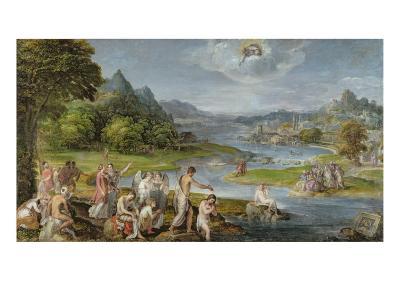 The Baptism of Christ-Lambert Sustris-Giclee Print