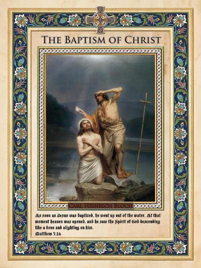 The Baptism of Christ-Carl Bloch-Giclee Print