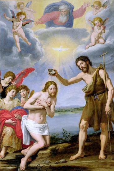 The Baptism of Christ-Ottavio Vannini-Giclee Print