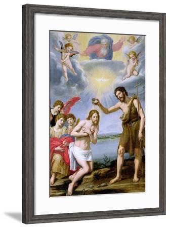 The Baptism of Christ-Ottavio Vannini-Framed Giclee Print