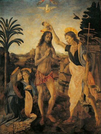 The Baptism of Christ-Andrea Verrocchio-Giclee Print