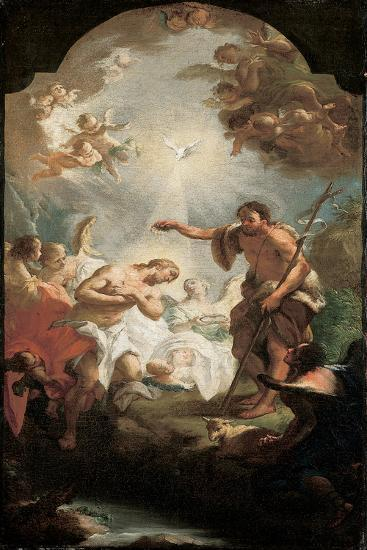 The Baptism of Christ-Michel Angelo Unterberger-Giclee Print