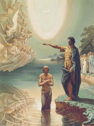 The Baptism of Christ-Grigori Grigorievich Gagarin-Giclee Print