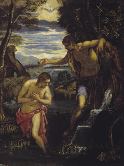 The Baptism of Christ-Domenico Tintoretto-Giclee Print