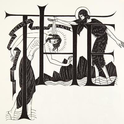 The Baptism of Jesus by John the Baptist from the Four Gospels, 1931-Eric Gill-Giclee Print
