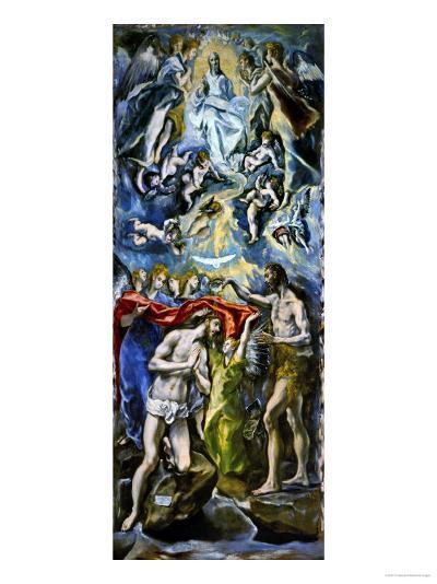 The Baptism of Jesus Christ, 1597/1600-El Greco-Giclee Print