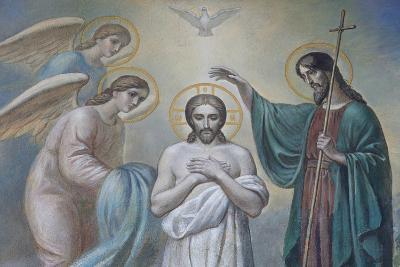 The Baptism of Jesus, Russian Orthodox Church, St. Petersburg, Russia, Europe-Godong-Photographic Print