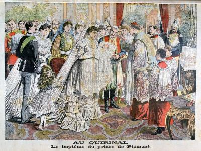 The Baptism of the Prince of Piedmont, Quirinal Palace, Rome, 1904--Giclee Print