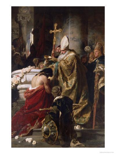The Baptism of Vajk-Gyula Benczur-Giclee Print