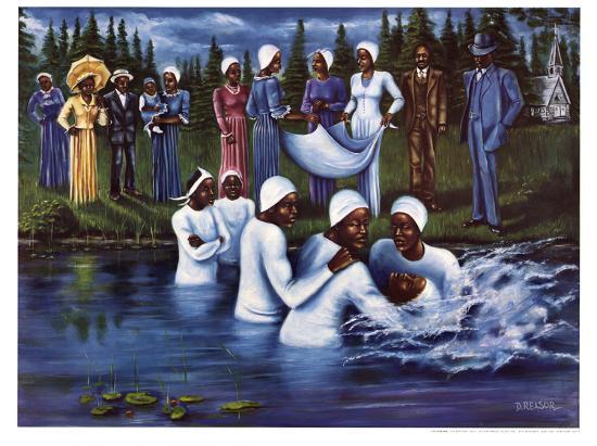 The Baptism-Don Reasor-Art Print