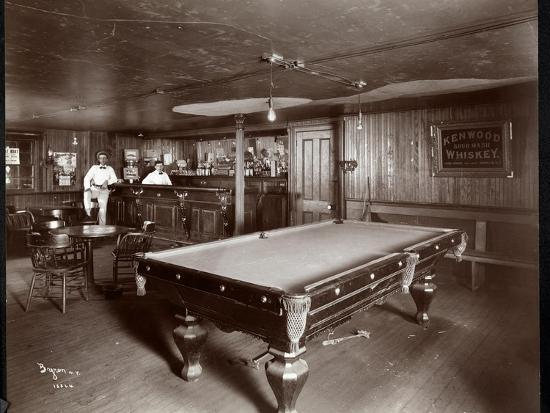 The Bar at Janer's Pavilion Hotel, Red Bank, New Jersey, 1903-Byron Company-Giclee Print