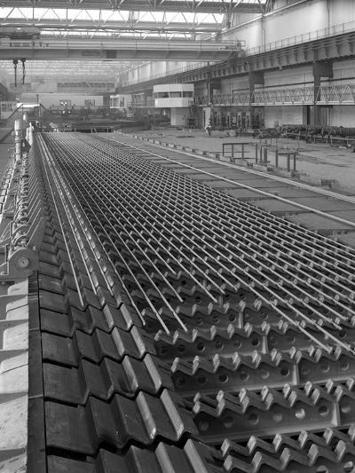 The Bar Mill Cooling Beds at the Brightside Foundry, Sheffield, South Yorkshire, 1964-Michael Walters-Photographic Print