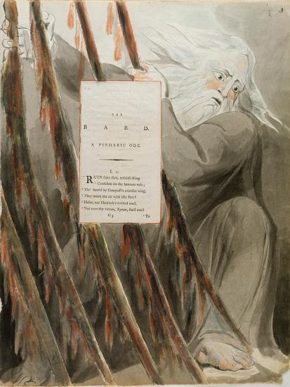 The Bard: a Pindaric Ode, from 'The Poems of Thomas Gray', Published 1797-98-William Blake-Giclee Print