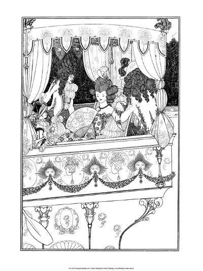 The Barge-Aubrey Beardsley-Art Print