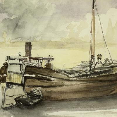 The Barge-Edouard Manet-Giclee Print