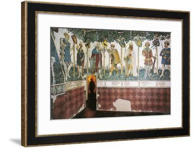 The Baronial Hall, 15th Century, Della Manta Castle, Manta--Framed Giclee Print