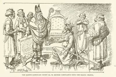 The Barons Compelled Henry III to Promise Compliance with the Magna Charta--Giclee Print
