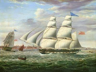 The Barque 'Andromeda' in Two Positions, 1831-Samuel Walters-Giclee Print