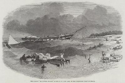 The Barque Sir Fowell Buxton on Shore at Capin Assu, on the North-East Coast of Brazil--Giclee Print