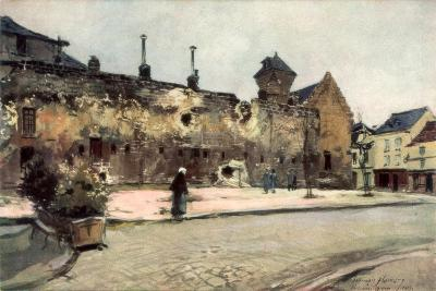 The Barracks at Soissons, France, 1915-Francois Flameng-Giclee Print
