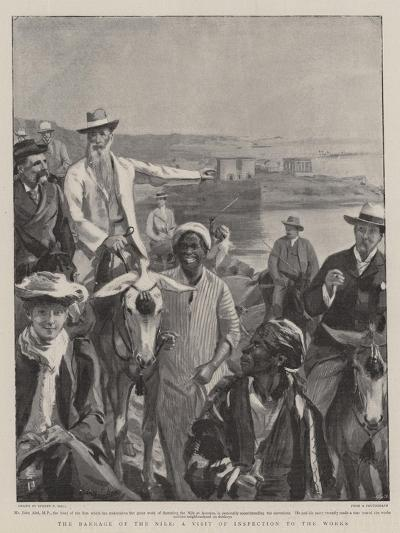 The Barrage of the Nile, a Visit of Inspection to the Works-Sydney Prior Hall-Giclee Print