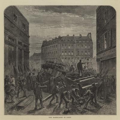 The Barricades in Paris--Giclee Print