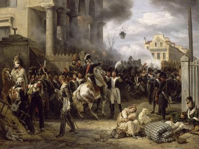 The Barriere De Clichy, Paris Defense March 30, 1814-Horace Vernet-Giclee Print