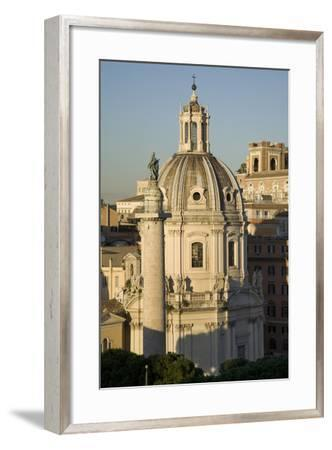 The Basilica Di San Marco and Trajan's Column in Rome-Scott S^ Warren-Framed Photographic Print