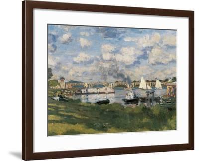 The Basin at Argenteuil (Detail)-Claude Monet-Framed Art Print