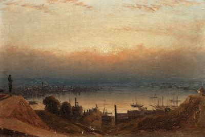 The Basin of the Patapsco from Federal Hill, Baltimore-Sanford Robinson Gifford-Giclee Print