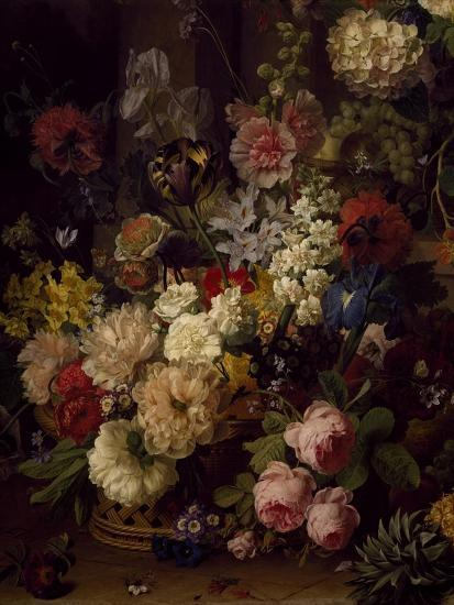 The Basket of Flowers, Detail from Julia's Tomb, 1804-Jan Frans van Dael-Giclee Print