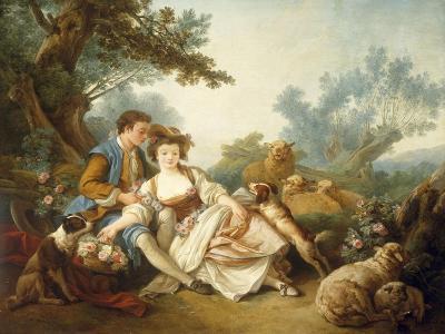 The Basket of Roses, 1785-Jean-Baptiste Huet-Giclee Print