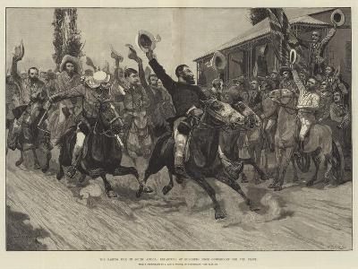The Basuto War in South Africa, Departure of Burghers from Outshoorn for the Front-Richard Caton Woodville II-Giclee Print