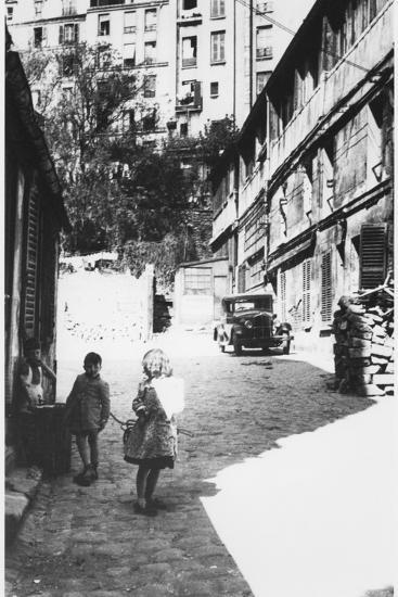 The Bateau-Lavoir, View of the Street, Montmartre, Paris, C.1950--Photographic Print