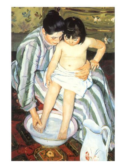 The Bath, 1891-Mary Cassatt-Giclee Print