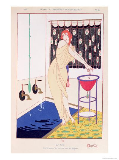 The Bath, Illustration from Modes et Manieres D'Aujourd'Hui, 1913-Charles Martin-Giclee Print